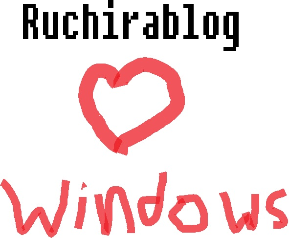 Ruchira loves windows