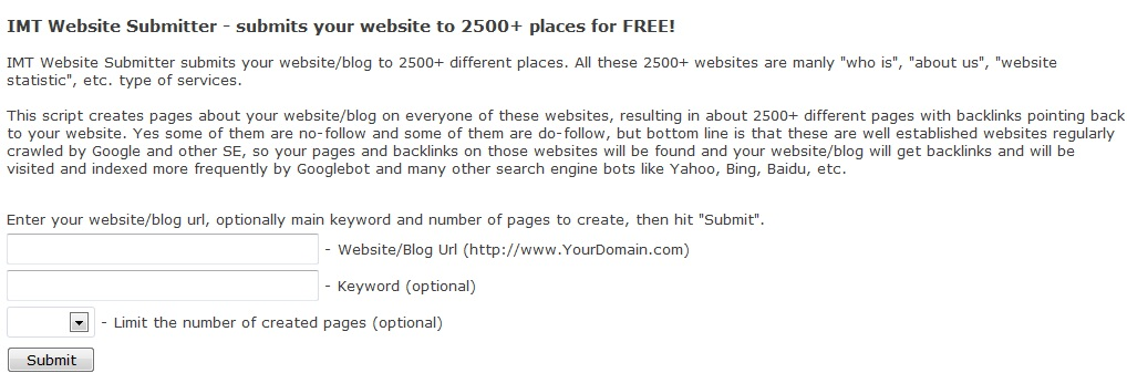 imtalk backlinks Get 2500 website backlinks for free!