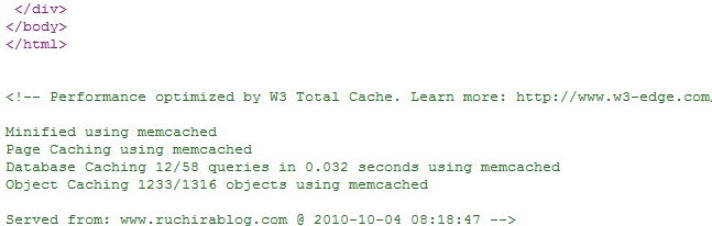 using memcached